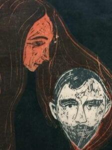 Edvard Munch Woodcut